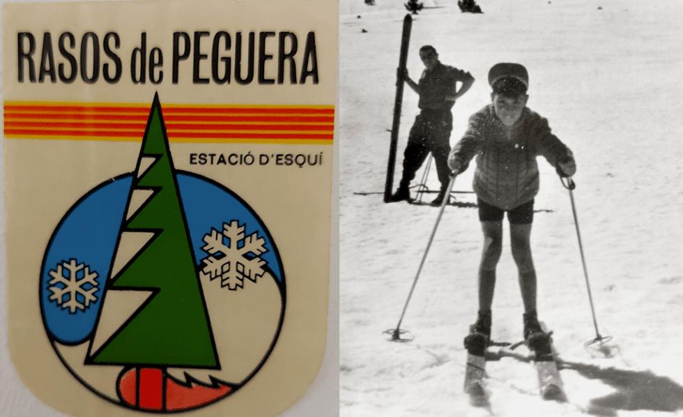 La Núria esquiant en els Rasos de Peguera